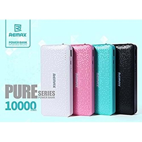 PURE POWER BANK 10000 MAH REMAX SİYAH